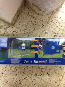 Fußballtorwand