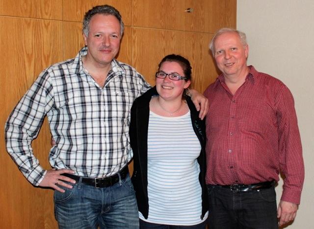 das neue Vorstandsteam des BDKJ Hagen: Markus Haarmann, Friederike Gerlach und Martin Bradenbrink